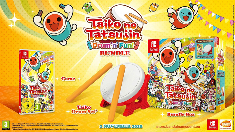 Taiko No Tatsujin + Tatacon : Drum & Fun pour Nintendo Switch